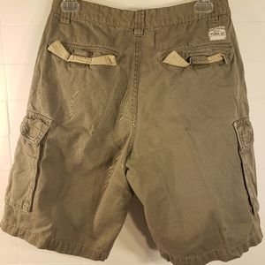 Plugg Co Green/Brown Cargo Shorts W29